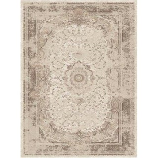 La Dole Rugs Brown Beige Cream Traditional Flat Pile Area Rug Carpet Living Room Hallway Patio Sizes 5x7, 8x10, 7X9 feet