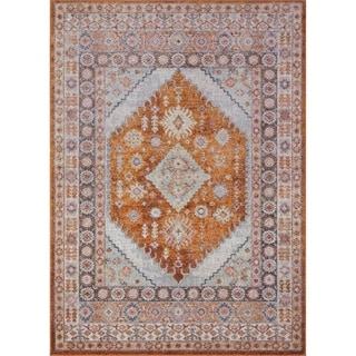Ladole Rugs Persian Terra Orange Traditional Area Rug For Living Room Hallway Runner Patio Entrance Bedroom 4x5 5x7 7x9 8x12