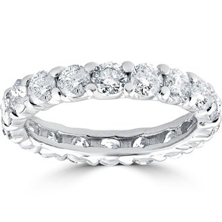 Link to 3CT 14k White Gold Diamond Eternity Wedding Ring Lab Grown Eco Friendly Similar Items in Wedding Rings