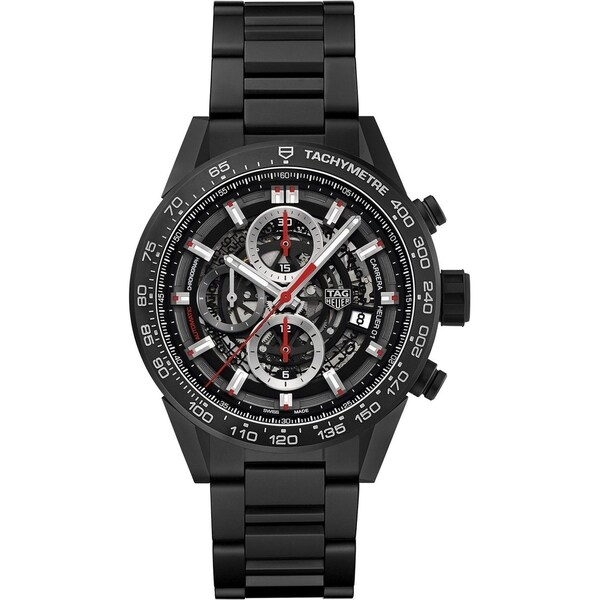 Tag Heuer Men's CAR2090.BH0729 'Carrera' Chronograph Black Ceramic Watch. Opens flyout.