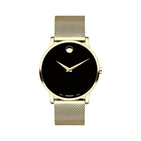 Movado Men's 0607396 'Museum Classic' Gold-Tone Stainless Steel Watch
