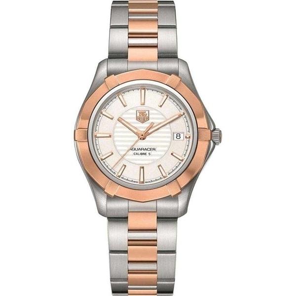 Tag Heuer Men's WAP2150.BD0839 'Aquaracer' Two-Tone Stainless Steel Watch. Opens flyout.