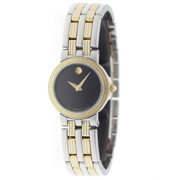 Movado Women's 0603967 'Museum' Two-Tone Stainless Steel Watch. Opens flyout.