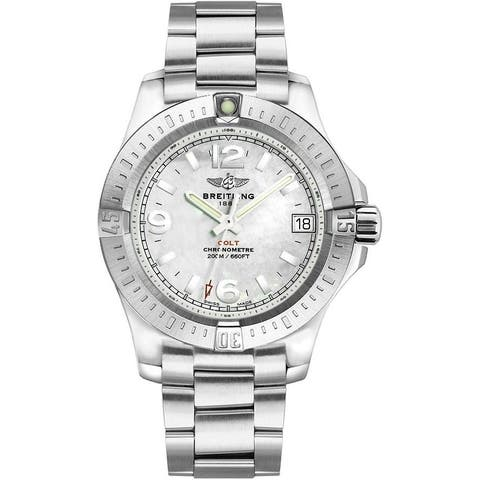 Breitling Women's A7438911-A772-178A 'Colt' Stainless Steel Watch