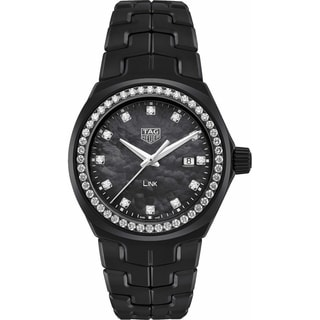 Link to Tag Heuer Women's WBC1394.BH0745 'Link' Diamond Black Ceramic Watch Similar Items in Women's Watches