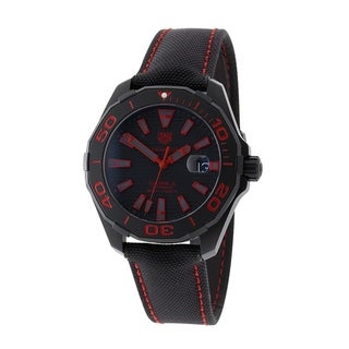 Link to Tag Heuer Men's WAY208A.FC6381 'Aquaracer' Black Fabric Watch Similar Items in Men's Watches