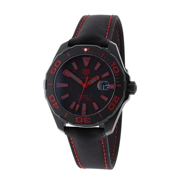 Tag Heuer Men's WAY208A.FC6381 'Aquaracer' Black Fabric Watch. Opens flyout.