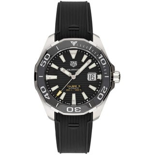 Link to Tag Heuer Men's WAY201A.FT6142 'Aquaracer' Black Rubber Watch Similar Items in Men's Watches