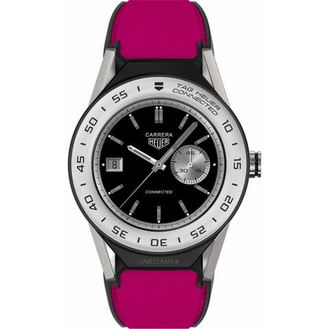Tag Heuer Unisex SBF818001.11FT8040 'Connected Modular 41' Pink Leather Watch