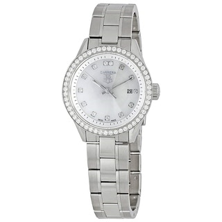Link to Tag Heuer Women's WV1413.BA0793 'Carrera' Stainless Steel Watch Similar Items in Women's Watches