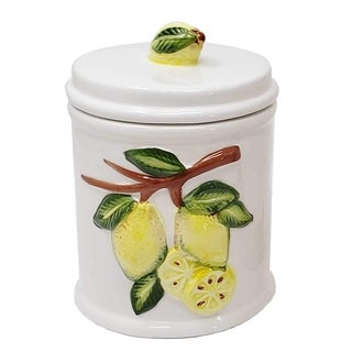 Link to Tuscan Style Lemon Design Ceramic Stoneware Canister Jar for Home Kitchen Similar Items in Kitchen Storage