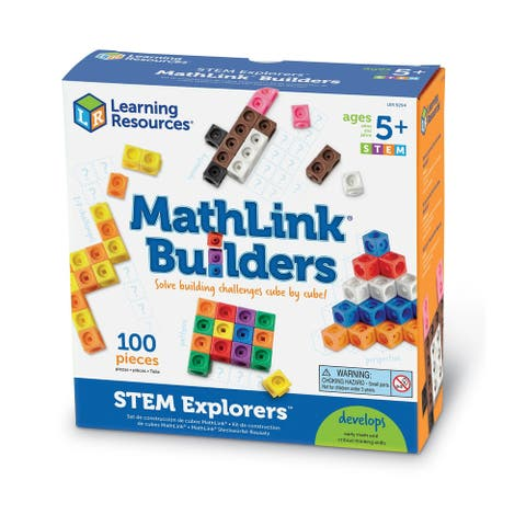 Learning Resources STEM Starters Mathlink® Builders, 100 Pieces