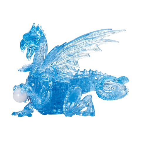 3D Crystal Puzzle - Dragon (Blue): 56 Pcs