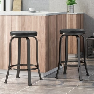 Link to Skyla Modern Industrial Swiveling Counter Stool (Set of 2) by Christopher Knight Home Similar Items in Dining Room & Bar Furniture