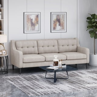 Reynard Tufted Fabric 3-seater Sofa by Christopher Knight Home