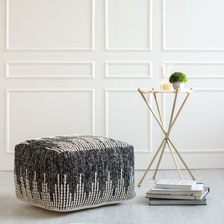 Dahlia Braided Pattern Pouf