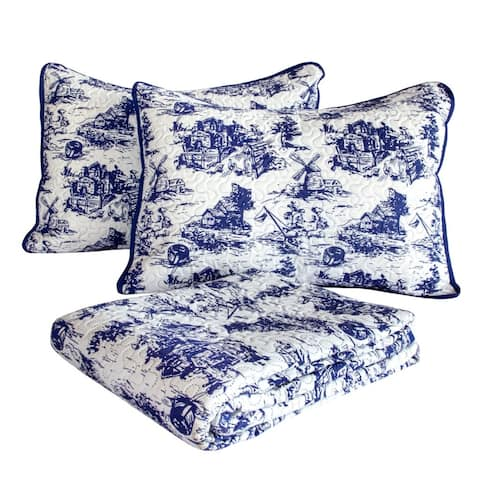 The Gray Barn Hickory Branch Classic Toile Print Quilt Set