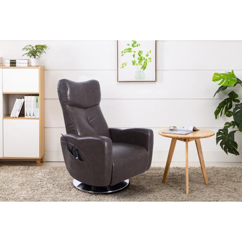 Copper Grove Haisyn Faux Leather Power Recliner