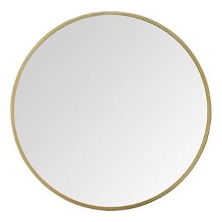 "Stratton Home Decor 28"" Aubrey Gold Metal Wall Mirror"