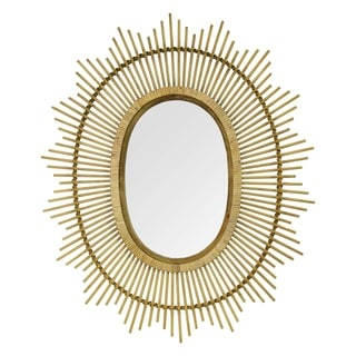 """Stratton Home Decor 36"""" Kelly Bamboo Oval Wall Mirror"""