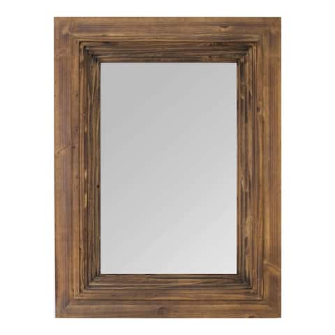"Stratton Home Decor 31.50"" Julia Layered Wood Detail Mirror"