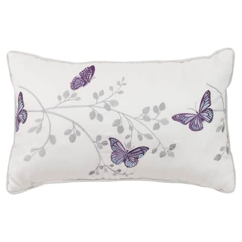 Croscill Nicola Butterfly Embroidered Boudoir Pillow