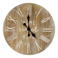 "Stratton Home Decor 23"" Wood Dale Wall Clock"