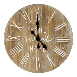 """Link to Stratton Home Decor 23"""" Wood Dale Wall Clock Similar Items in Decorative Accessories"""