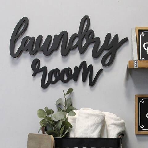 The Gray Barn Wood Laundry Room Script Wall Decor