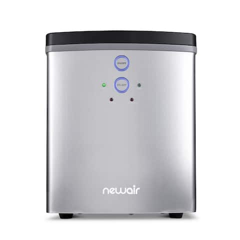 NewAir 33 lb. BPA FREE Countertop Portable Ice Maker Machine Freestanding with 2 Ice Size and Ice Scoop - Stainless Steel