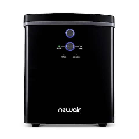 NewAir 33 lb. BPA FREE Countertop Portable Ice Maker Machine Freestanding with 2 Ice Size and Ice Scoop - Black