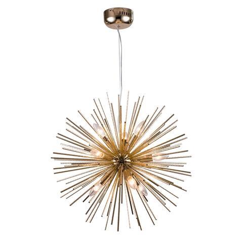 Aluminum Gold Spike Ball Pendant Lighting