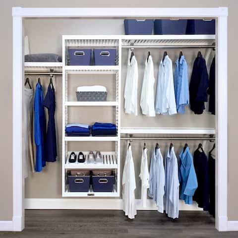 Porch & Den Hendrickson White Wood 4-Drawer 16-inch Deep Closet Organizer