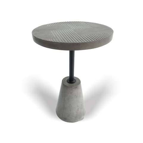 Modrest Dakan Modern Grey Concrete End Table