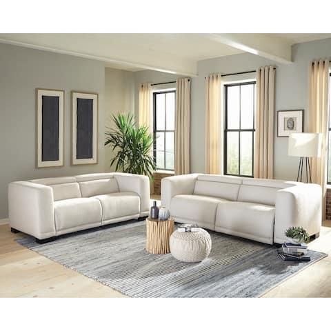Maggie Beige Upholstered Power 2-piece Living Room Set