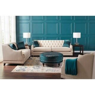 Artemis Beige Upholstered 3-piece Living Room Sets