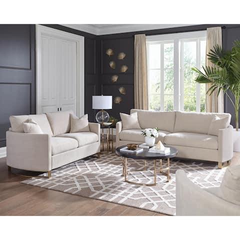 Corliss Beige Upholstered 3-piece Living Room Sets