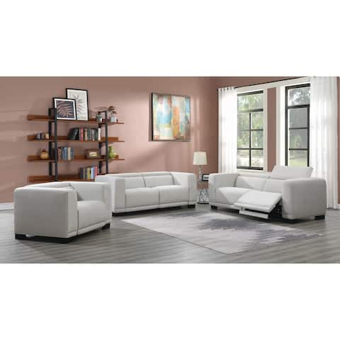 Maggie Beige Upholstered Power 3-piece Living Room Set