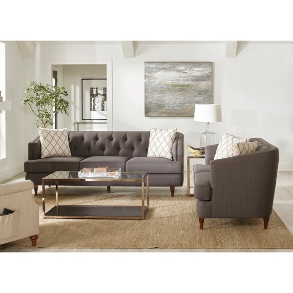 Shelby Grey Upholstered 2-piece Living Room Sets