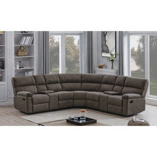 Morton Grey 3-piece Upholstered Manual Sectional