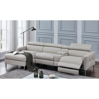 Beryl Light Grey 4-piece Power Sectional