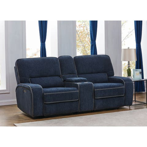 Dundee Upholstered Power Loveseat with Console
