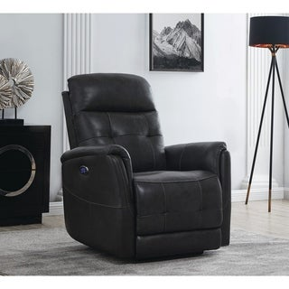 Tufted Upholstered Power Recliner