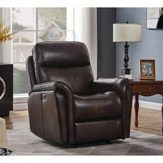 Cushion Back Upholstered Power Glider Recliner