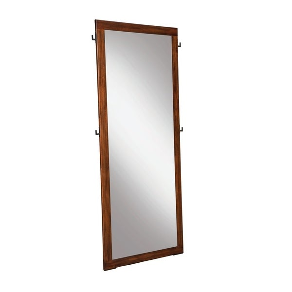 San Mateo Desert Teak Rectangular Floor Mirror