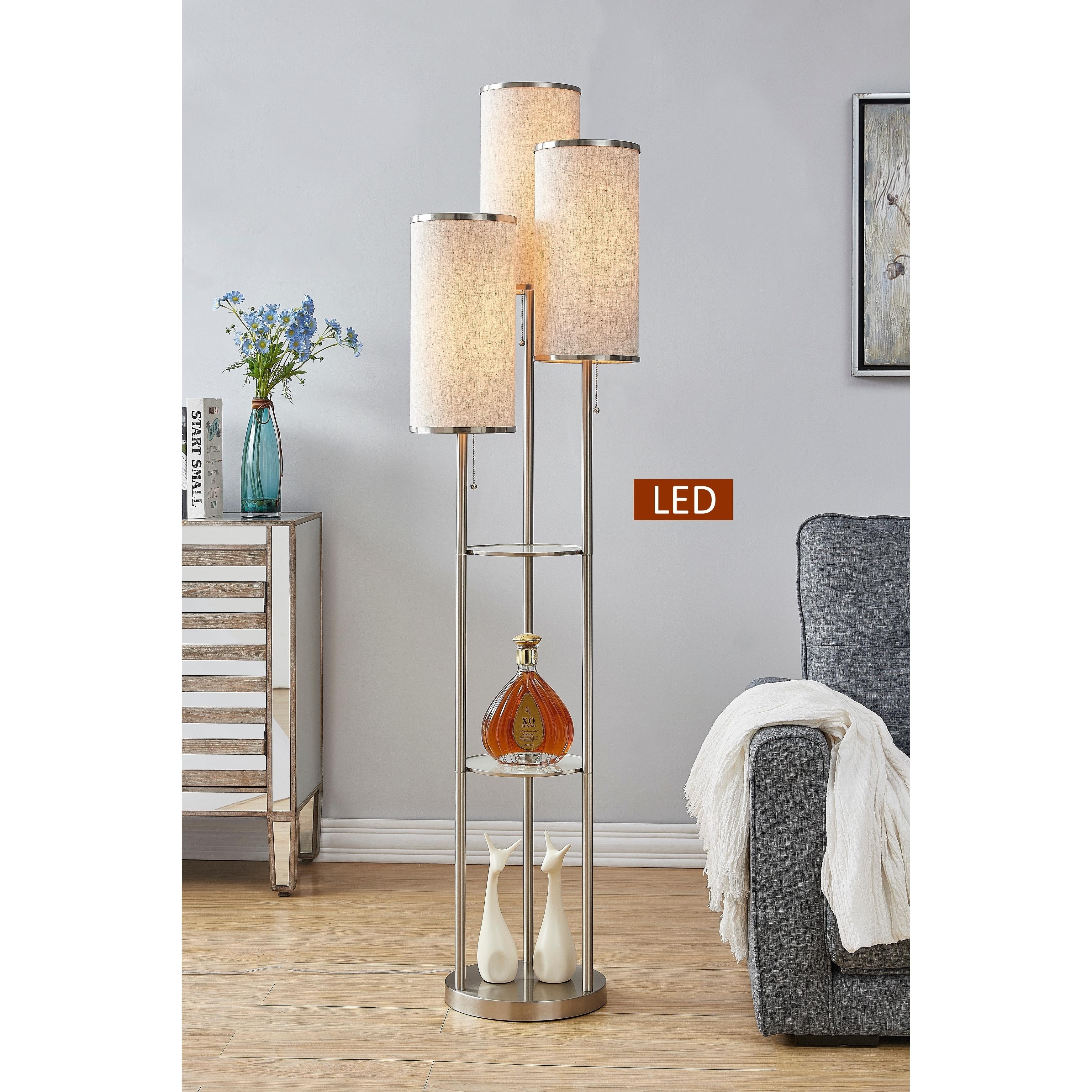 Led Tri Light Shelf Floor Lamp