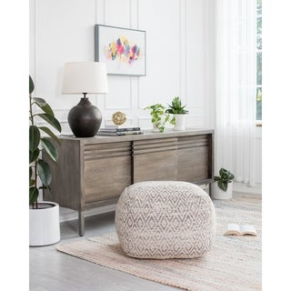 Link to Gray Rhombus 22-inch Square Pouf Similar Items in Living Room Furniture