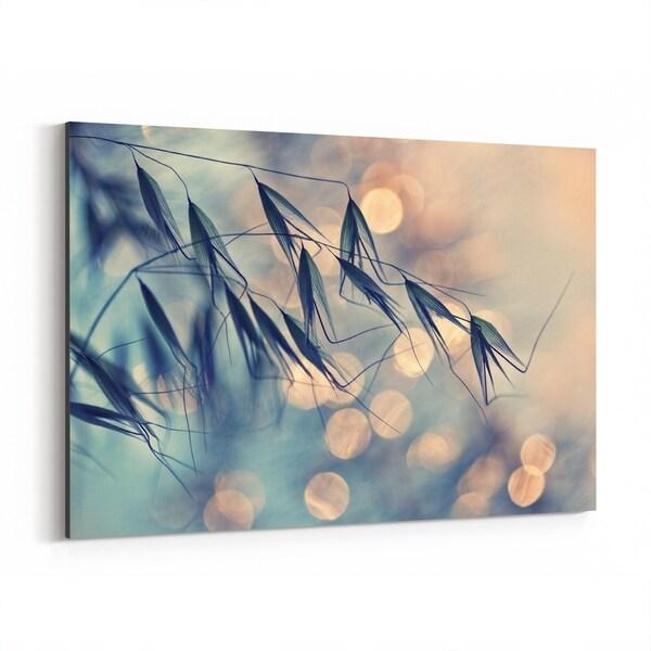 Noir Gallery Grass Botanical Bokeh Photography Canvas Wall Art Print