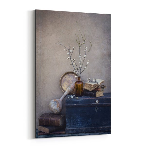 Noir Gallery Antique Old Still Life Photography Canvas Wall Art Print