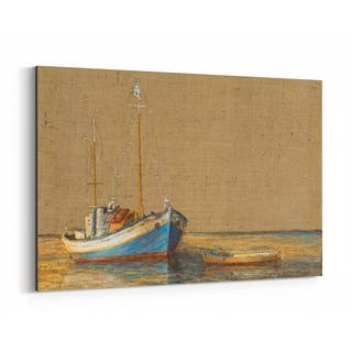 Noir Gallery Nautical Boat Maritime Oil Painting Canvas Wall Art Print